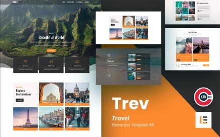 Trev - Travel Elementor Kit Template