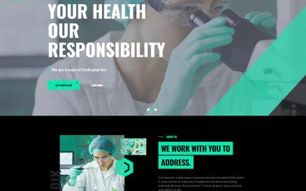 Medik Medical Modern Dark WordPress Theme
