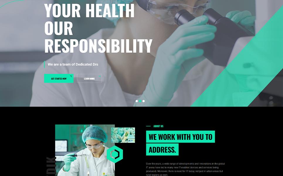 Medik Medical Modern Dark WordPress Theme Tema WordPress №170490
