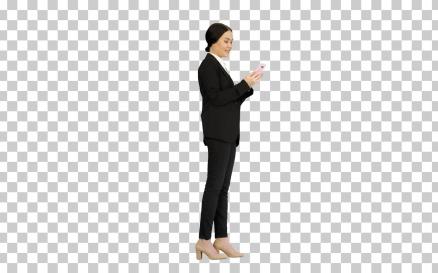 Smiling Businesswoman Checking Photos - Stock Video