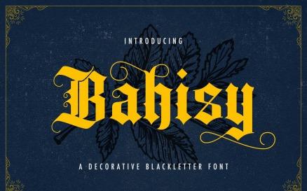 Bahisy - Blackletter Font