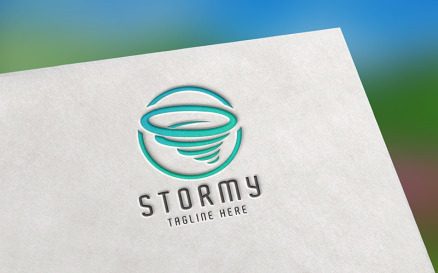 Stormy Logo template Logo Template