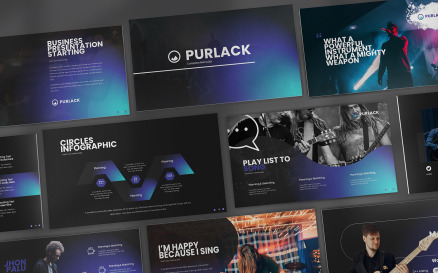 Purlack Powerpoint Presentation PowerPoint Template