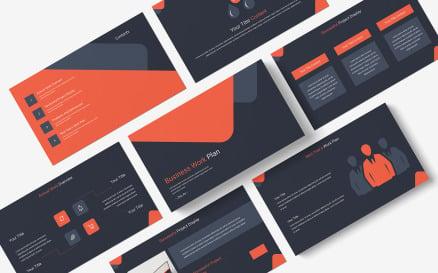 Business Work Plan PowerPoint Template