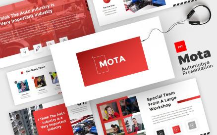 Mota - Automotive Powerpoint PowerPoint Template