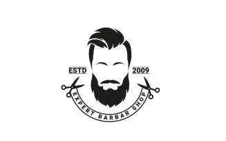 Expert BARBER Shop Logo Template