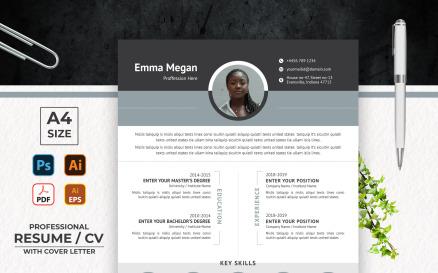 Emma Megan Simple Printable Resume Template