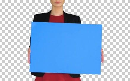 Businesswoman Holding Blank Whiteboard Sign Alpha - Stock Video