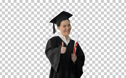 Happy Graduate Woman Holding Diploma - Stock Video