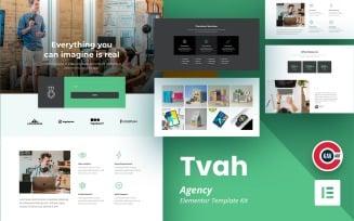 Tvah - Agency Elementor Kit Template