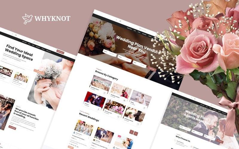 """Whyknot Wedding Listing and Vendor HMTL5 Website Template"" 响应式网页模板 #170975"