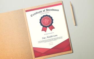 Sia Attendance Certificate
