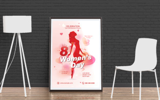 Women's Day Party Flyer Corporate identity template
