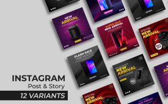 GADGET SERIES II - Instagram Post and Story Social Media Template