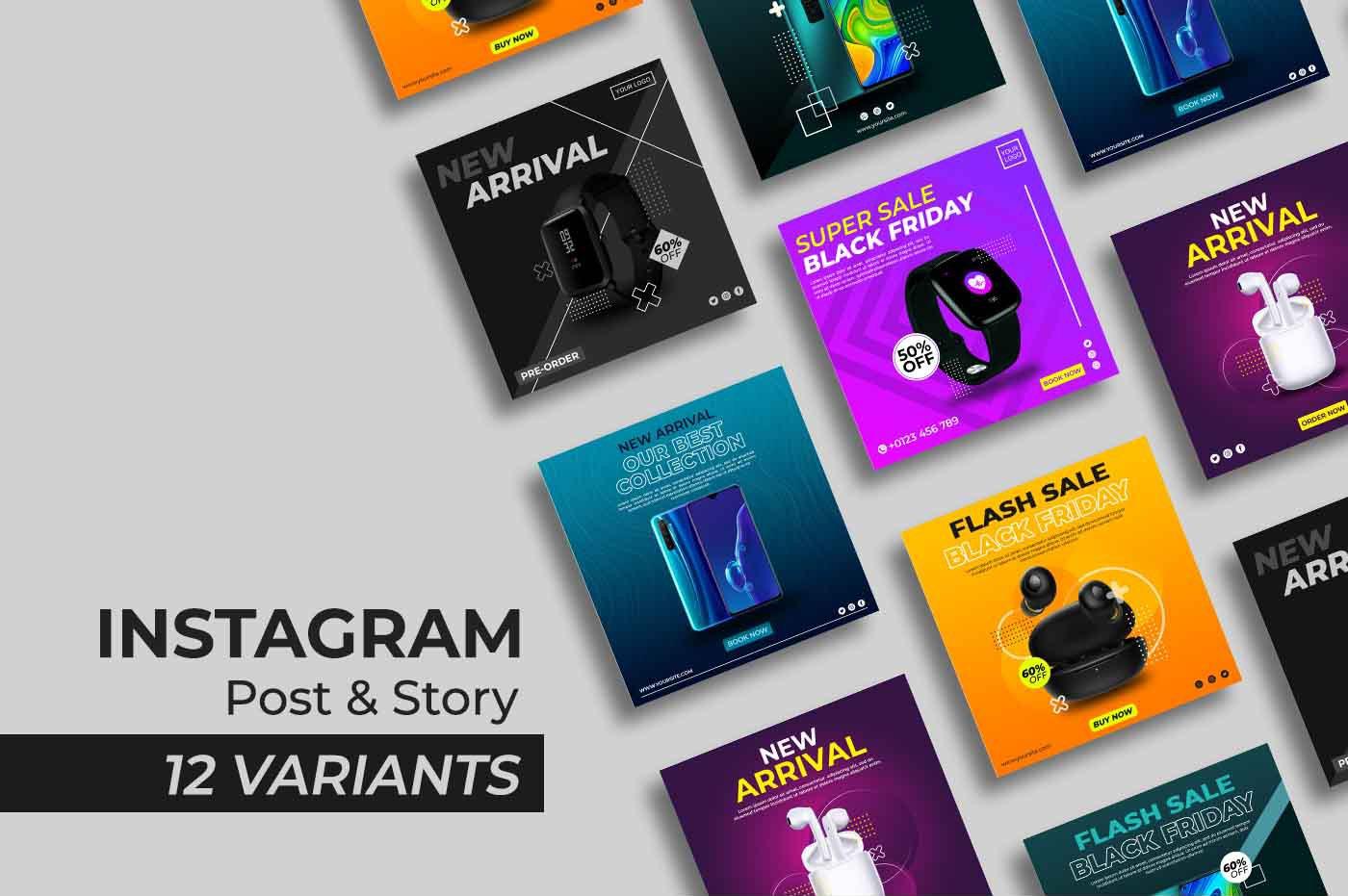 """GADGET SERIES III - Instagram Post and Story Social Media Template"" Social Media Template №171053"