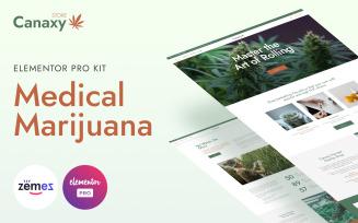 Canaxy - Elementor Pro Medical Marijuana Templates Kit