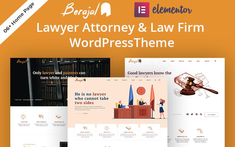 Beraja l- Lawyer Attorney & Law Firm WordPress Theme Tema WordPress №171355