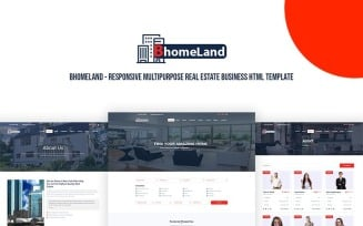 Bhomeland - Responsive Multipurpose Real Estate Business HTML Website Template