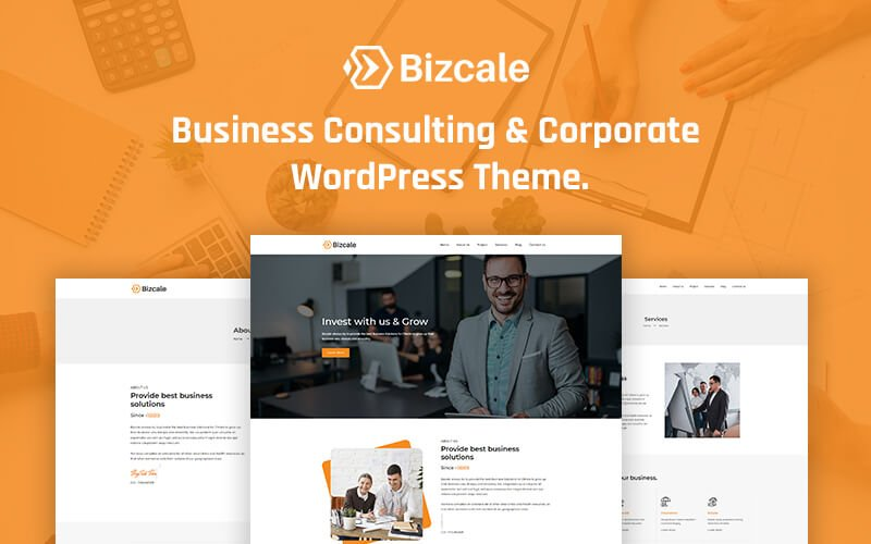 """Bizcale – Business Consulting Corporate Elementor WordPress Theme"" Responsive WordPress thema №171354"