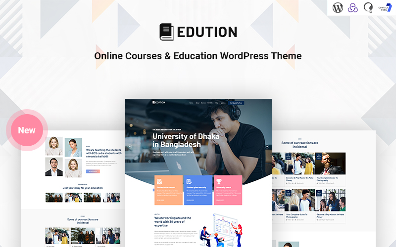 """Edution - Online Courses & Education Responsive WordPress Theme"" Responsive WordPress thema №171356"