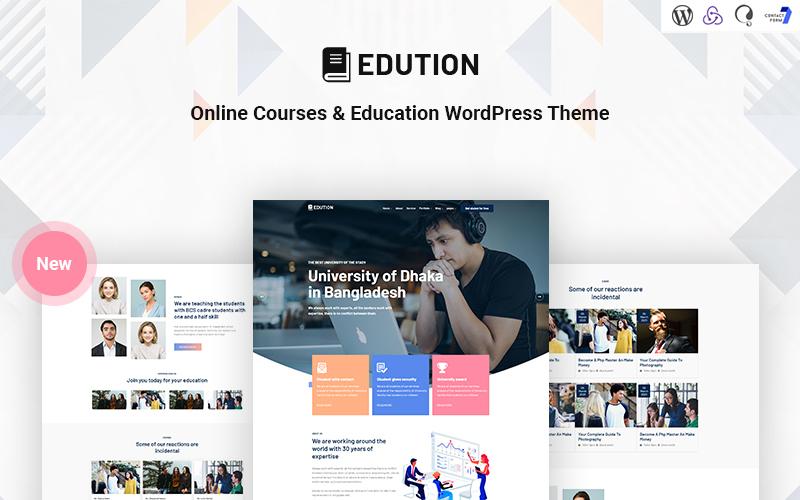 Edution - Online Courses & Education Responsive WordPress Theme Tema WordPress №171356