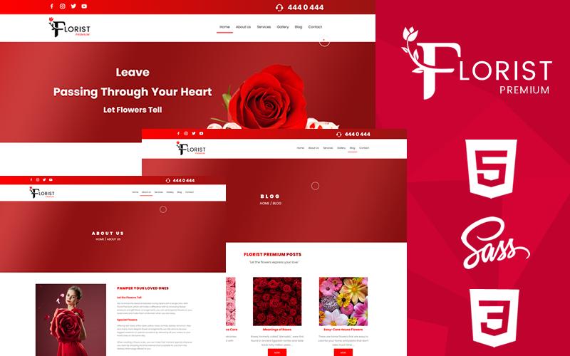 """Florist Premium Html5 & Css3 Website Template"" 响应式网页模板 #171350"