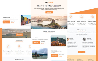 LetsTravel - Travel newsletter template multipurpose