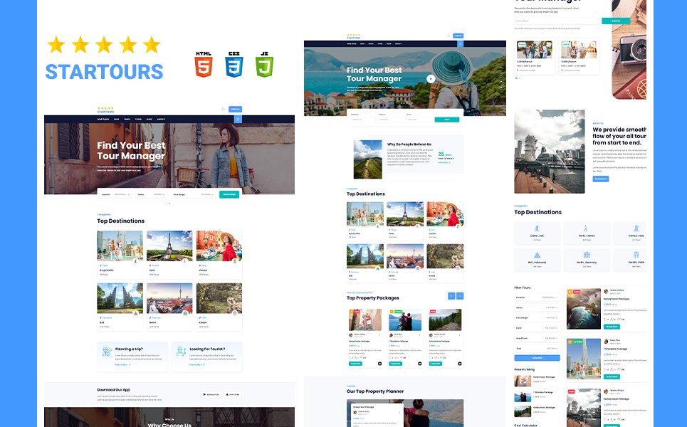 """""""Startours Tour booking and Vacation Listing HTML5 Template"""" 响应式网页模板 #171347"""