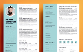 Resume Template CV Resume - Henry Wotton