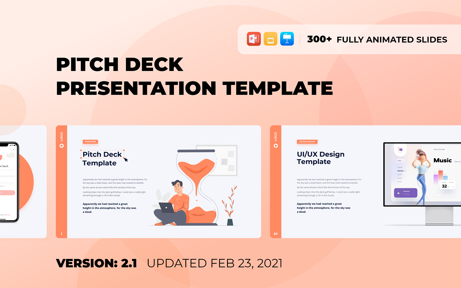 """""""Pitch Deck - Smooth Animated PowerPoint Template"""" PowerPoint Template №171448"""