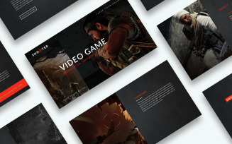 Free Video Game Presentation PowerPoint Template