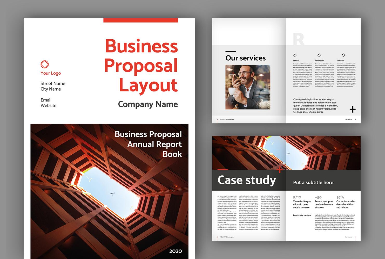 """Business Proposal Layout (A4+US)"" Magazine Template №171571"