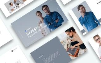 Free Investor Presentation PowerPoint template