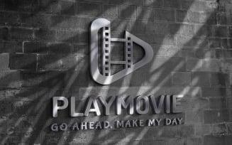 Playmovie Logo Design