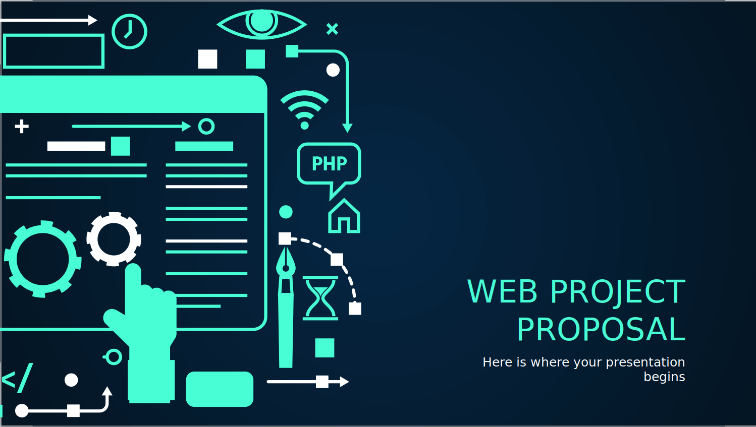 Webproject Proposal PowerPoint template