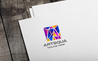 Art Squa Letter A Logo Template