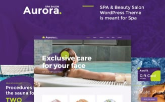 Aurora Spa & Beauty Salon WordPress Theme