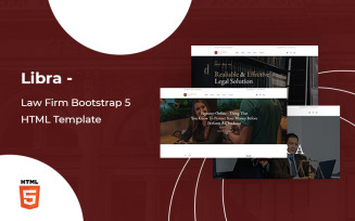 Libra - Law Firm Bootstrap 5 Website template