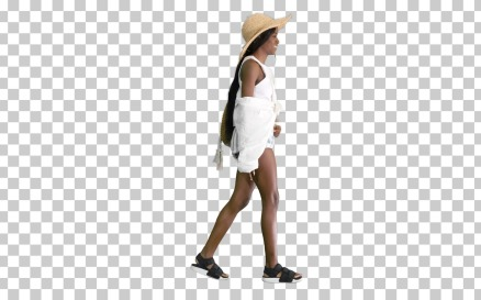 Relaxed African American Girl Walking Wearing - Stock Video