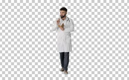 Walking Doctor Or Medic Man Holding - Stock Video