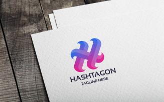 Hashtagon Logo template