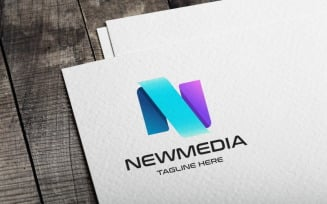 New Media Letter N Logo template