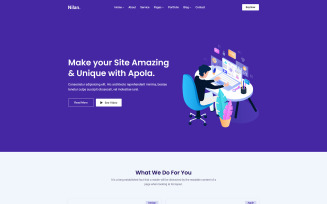 Nilan - Landing, Marketing & Hosting Html Website Template