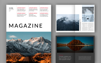 Classic Magazine Templates Layout (A4+US)
