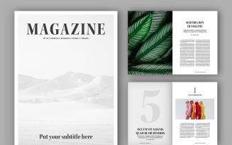 Minimalist Magazine Templates Layout (A4+US)