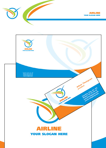 Private Airline Corporate Identity Template Vector Corporate Identity preview