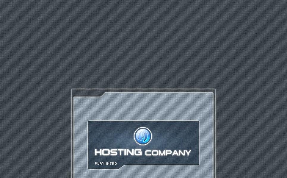 Flash Intro Vorlage für Hosting  New Screenshots BIG