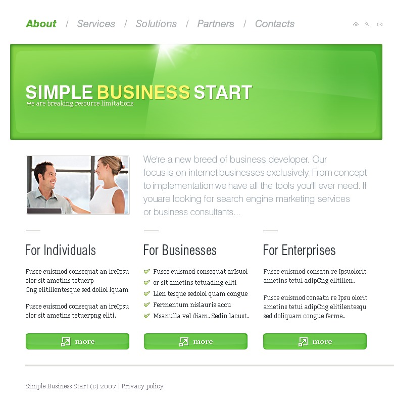 Business Website Template #17226