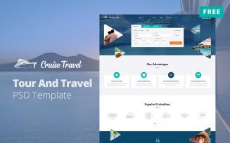 CruiseTravel - Free Tour And Travel Website Design PSD