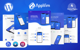 AppVim - App Landing Page WordPress Theme